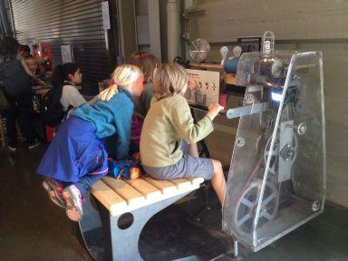A la demande des enfants passage au musée des sciences