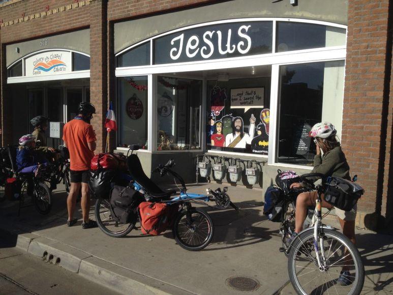 Dans une rue de la ville de Guadalupe