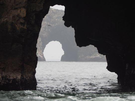 et joliment sculptés par l'érosion marine