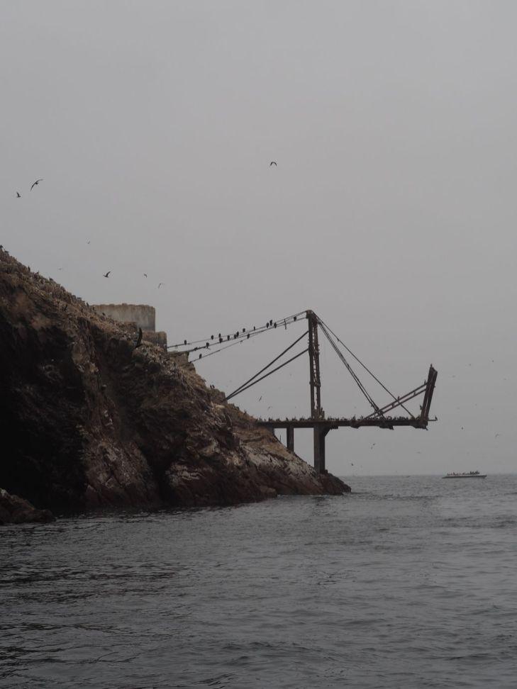 embarcadère pour les bateaux qui récupèrent le guano (très bon fertilisant)