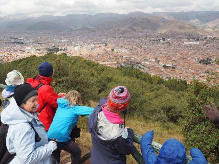 Vue de Cusco depuis les hauteurs