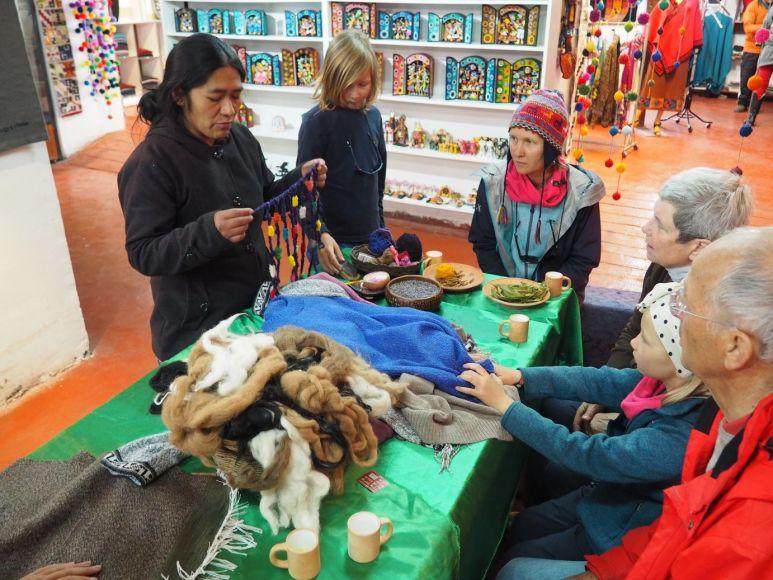 et du travail de la laine d'Alpaca