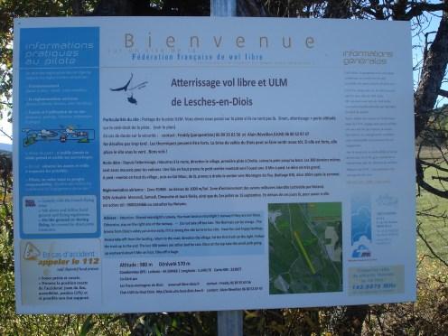 Panneau informations vol libre et ULM