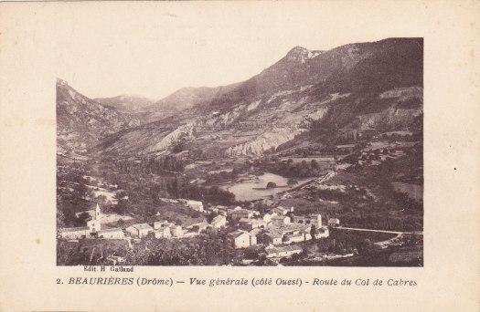 Beaurières Route du col de Cabre