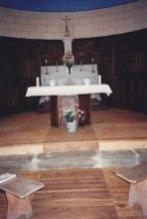 Autel dans l'abside