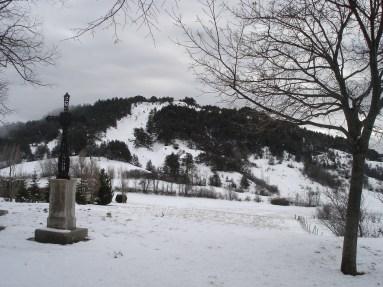 Croix du Charel en hiver