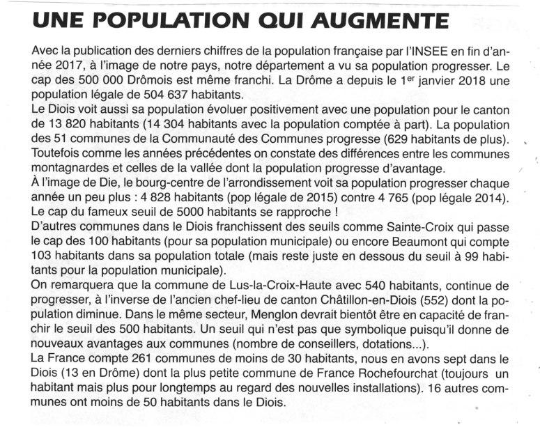 Augmentation de la population