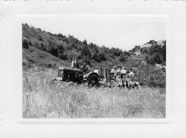 08.1956 Départ pour le champ de lavande