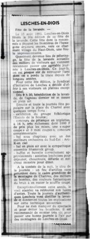 Annonce JDD 15.08.1983