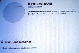 Information écran Sénat