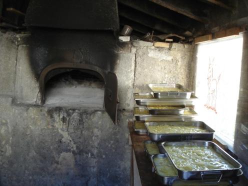 Pile de gratins avant cuisson