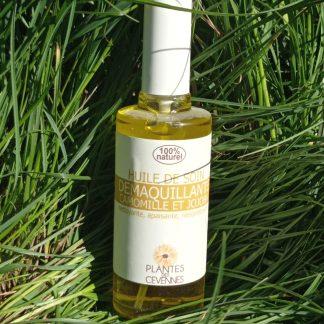 huile démaquillante camomille jojoba Plante des Cévennes