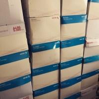 Un mur de cartons