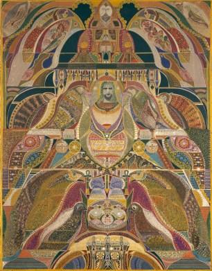 Composition symbolique, 1928, Huile sur toile 141 x 109 cm, LaM