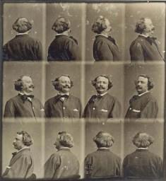 Nadar, série Autoportrait « tournant », vers 1865, Bibliothèque nationale de France, Paris