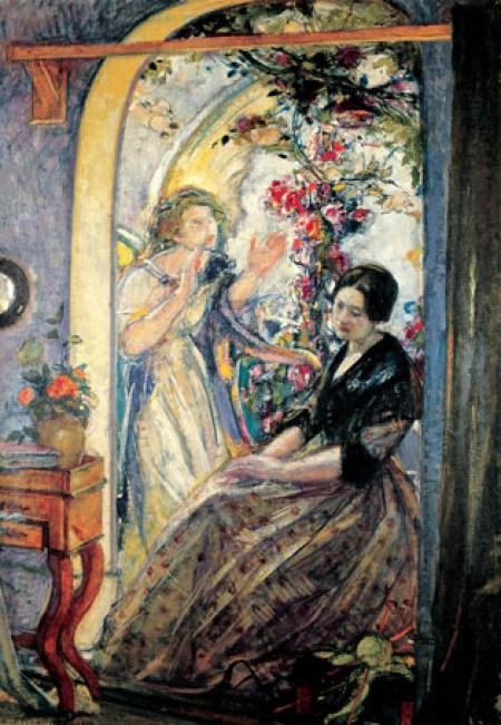 George Desvallières, Annonciation, 1910, Huile sur toile, 136 x 95 cm; Collection particulière
