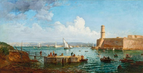 Pecheurs devant l'entrée du Vieux-Port