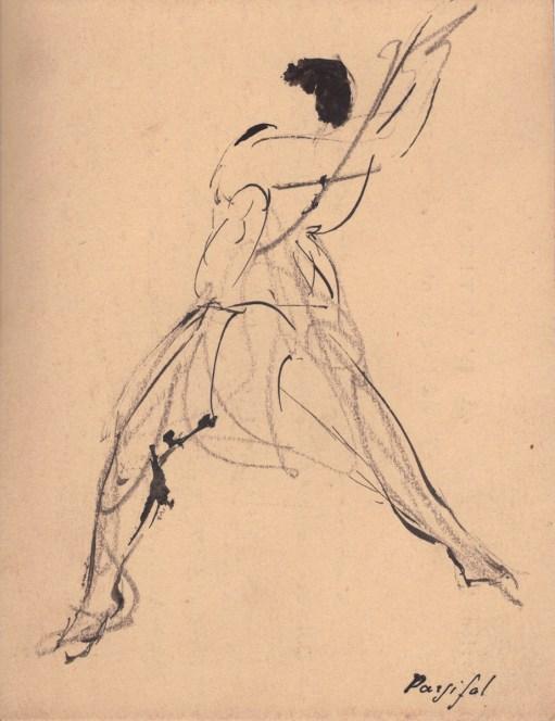 Lucien Jacques, Dessin de Isadora Duncan