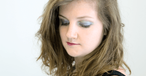Monday Shadow Challenge – Argent pailleté et teal