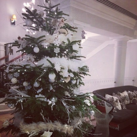 christmas tree in main foyer