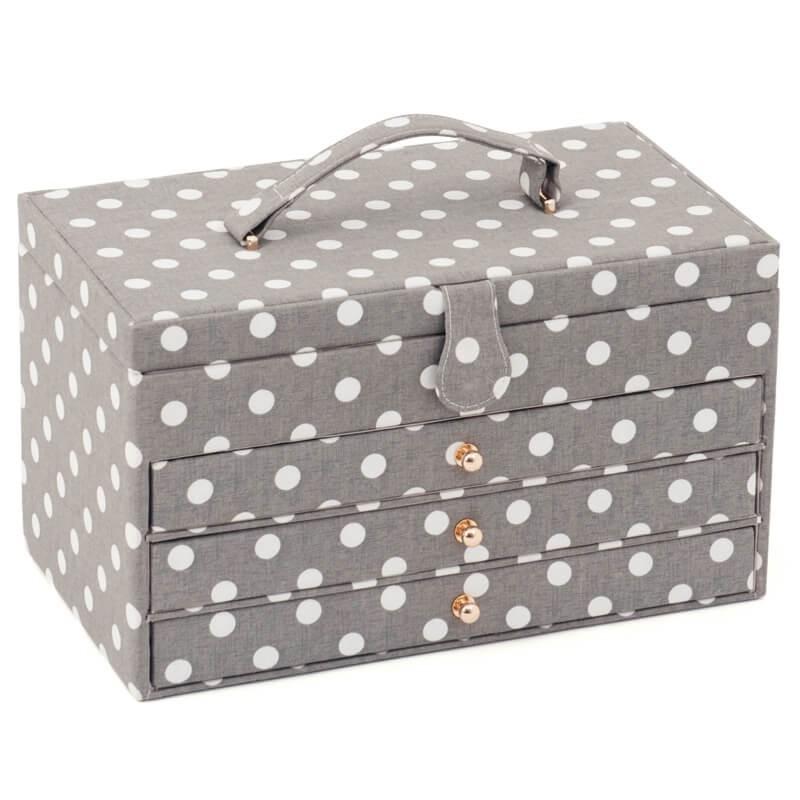 boite a couture avec tiroirs grey spot tres grande