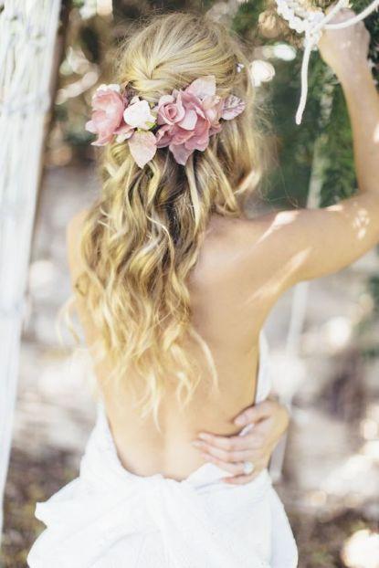 Sarasota hair stylist beach wedding bohemian wedding 2