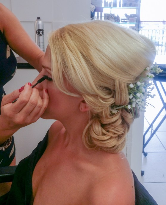 Bride hair and make up at Les Ciseaux St. Armands