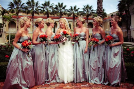 Wedding party at Ringling Museum with hair done by Les Ciseaux on St. Armands