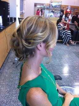 Wedding hair up do with curls by Les Ciseaux St. Armands