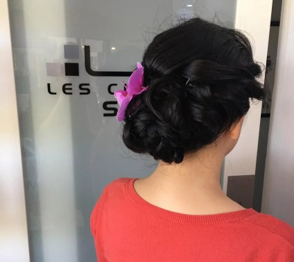 Sarasota bridal hair salon wedding flowers