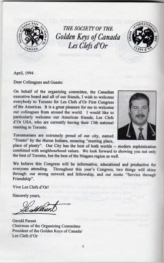 1994 Toronto Congress Gerald