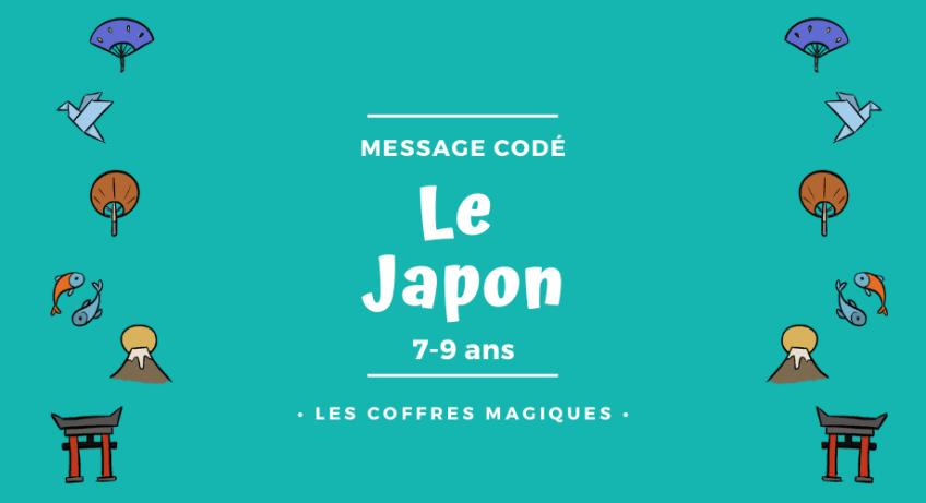message codé le Japon