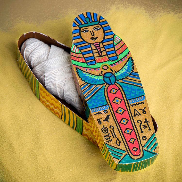sarcophage égyptien DIY