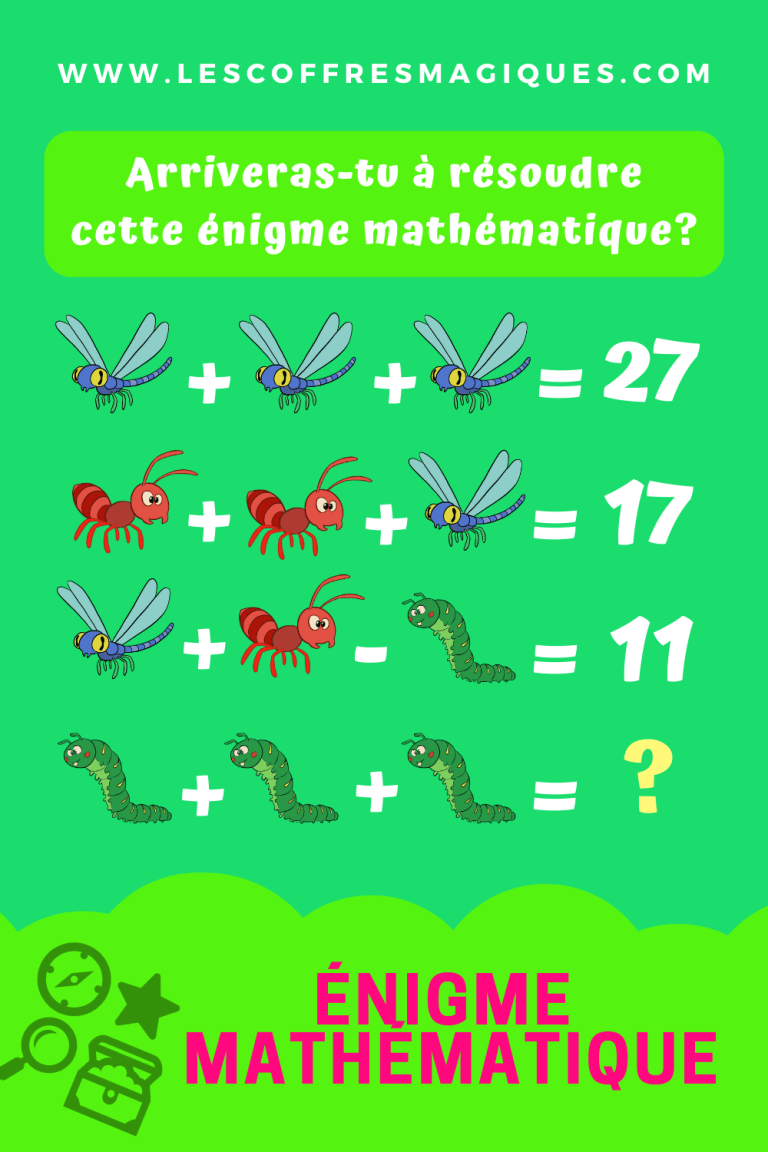 énigme maths insectes 1