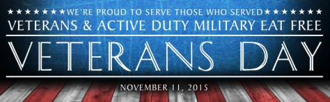 Veterans Day 2015 email header