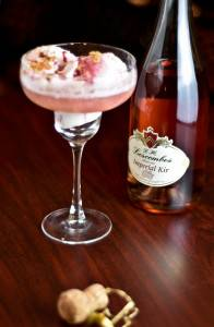 Imperial Kir Raspberry Sorbet Float