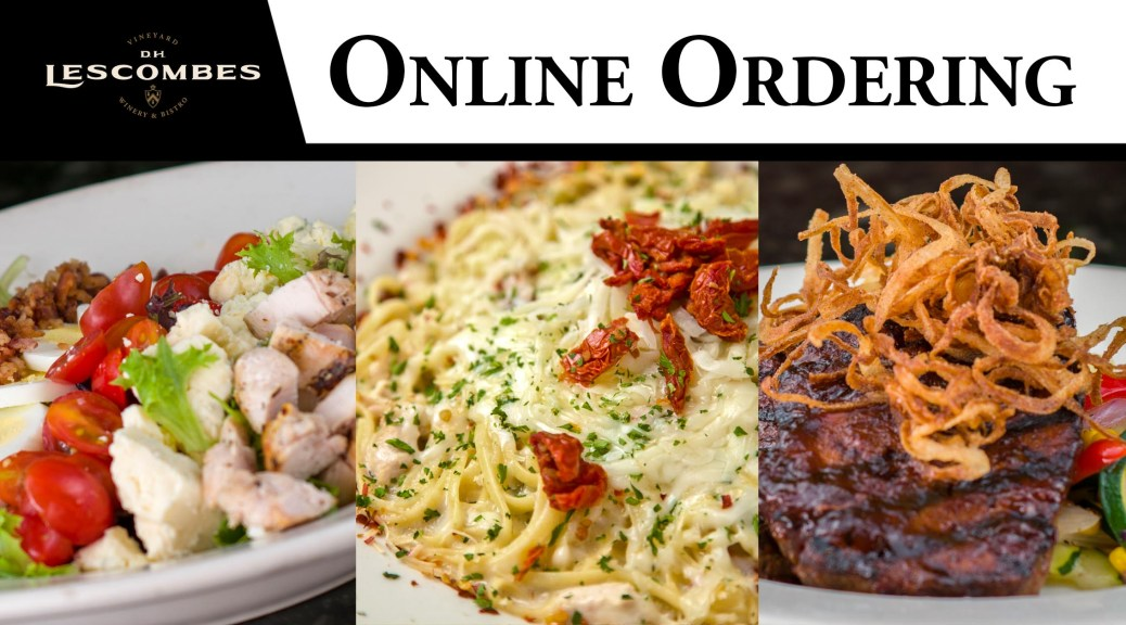 D.H. Lescombes Winery & Bistro online order for curbside pickup