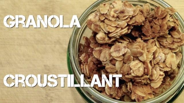 Granola Croustillant (version simple) – Recette