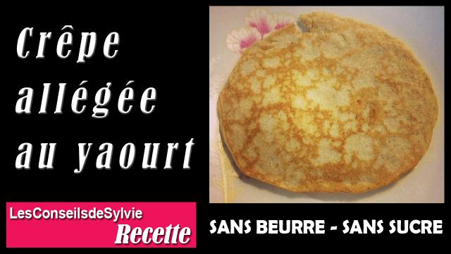 Pancake au Yaourt (sans beurre et sans sucre) – Recette