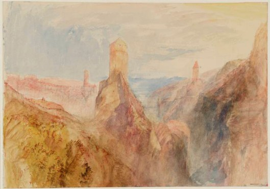 Fribourg: The Golden Tower circa 1841 by Joseph Mallord William Turner 1775-1851