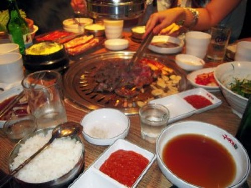Korean bbq, Sinchon, Séoul