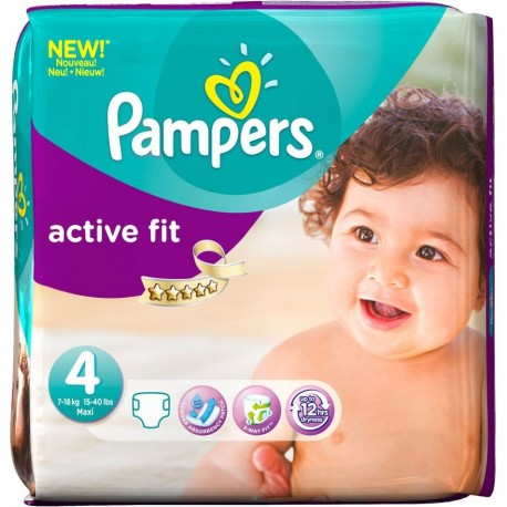 pampers 78 couches active fit taille 4