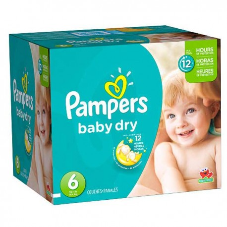33 Couches Pampers Baby Dry Taille 6 En Promotion Sur Les
