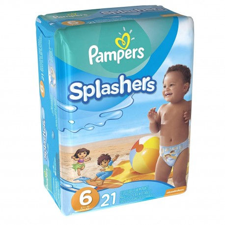 pampers pack 21 couches de bains swimming pants splachers taille 6