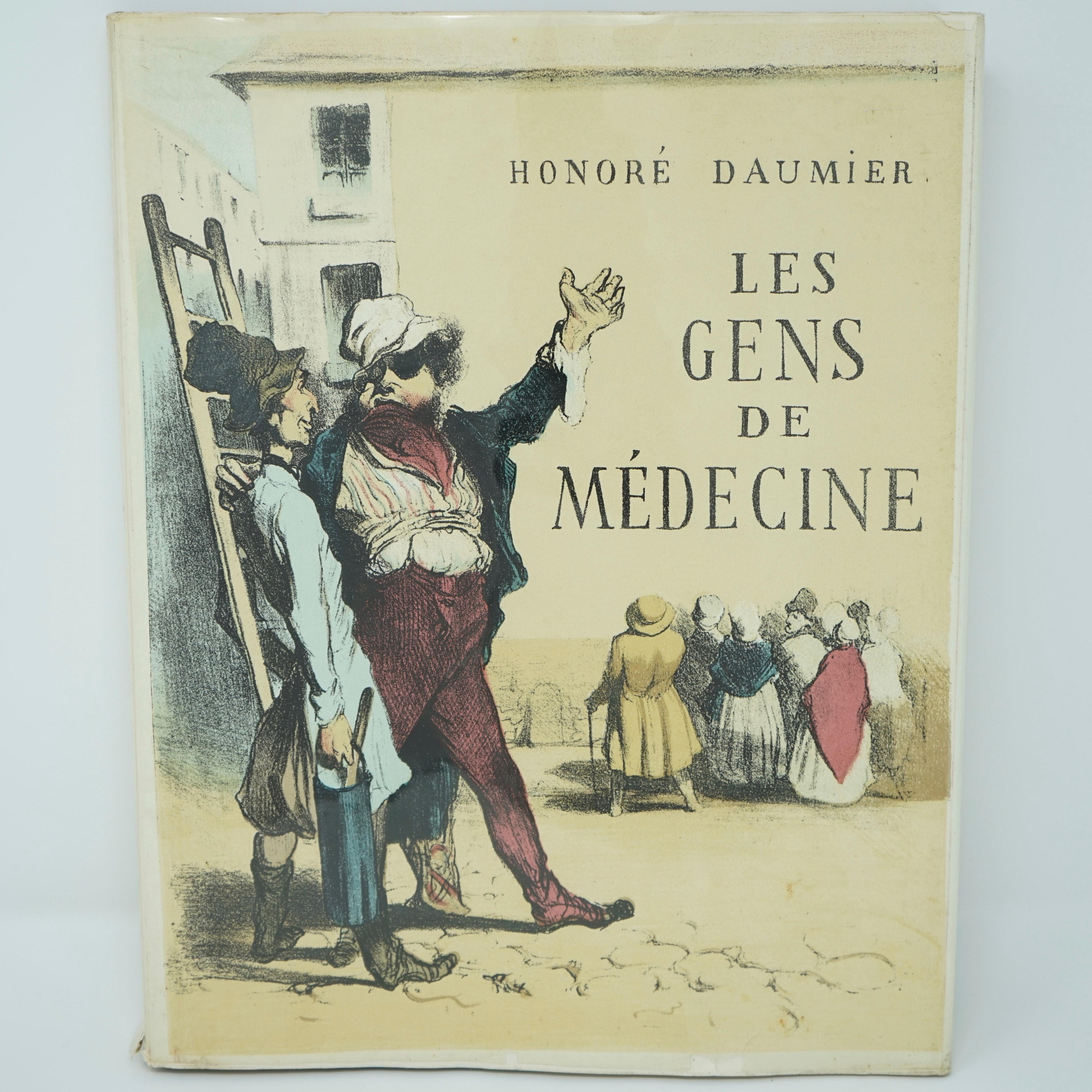Livre les Gens de Médecine d'Honoré Daumier