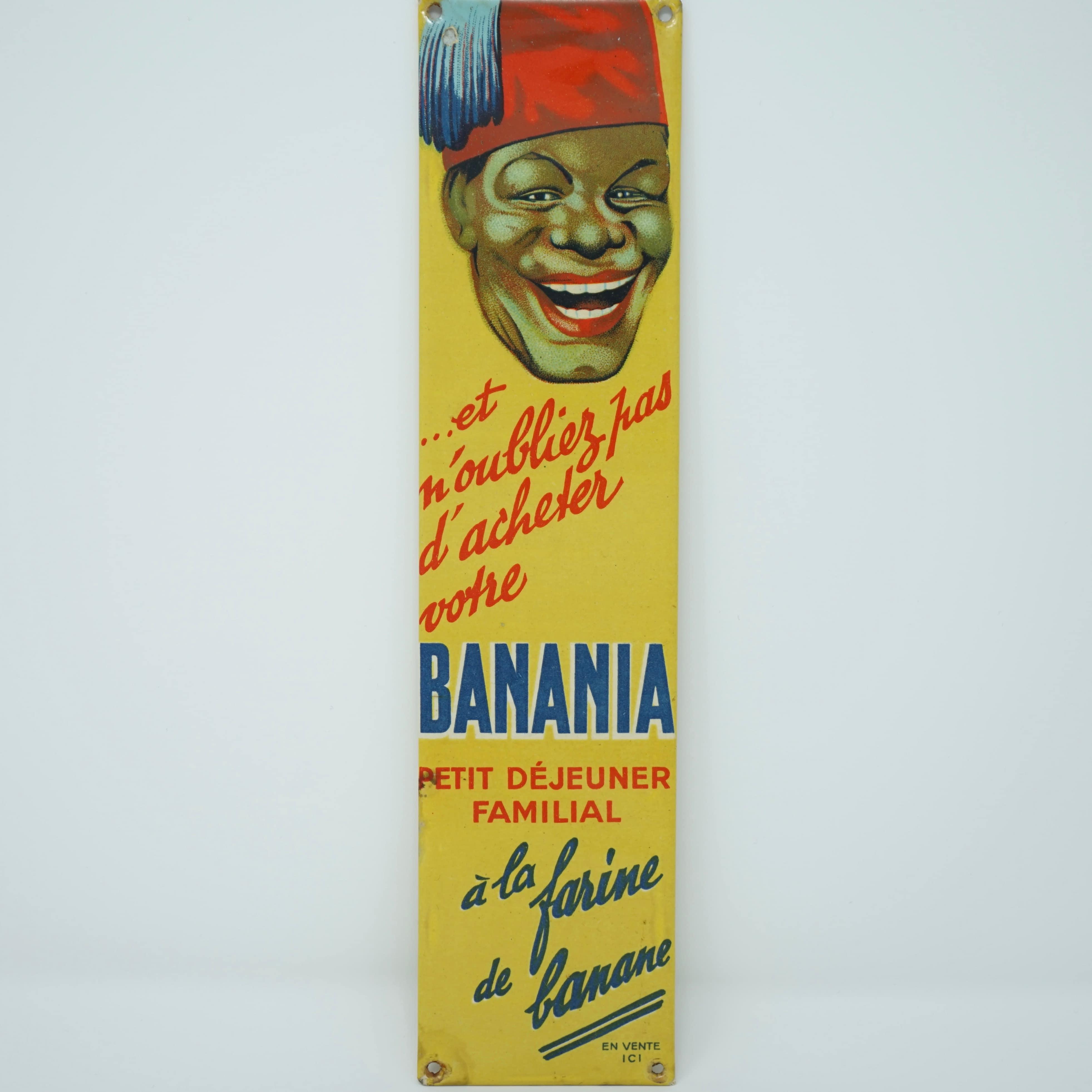 Plaque de Propreté Banania