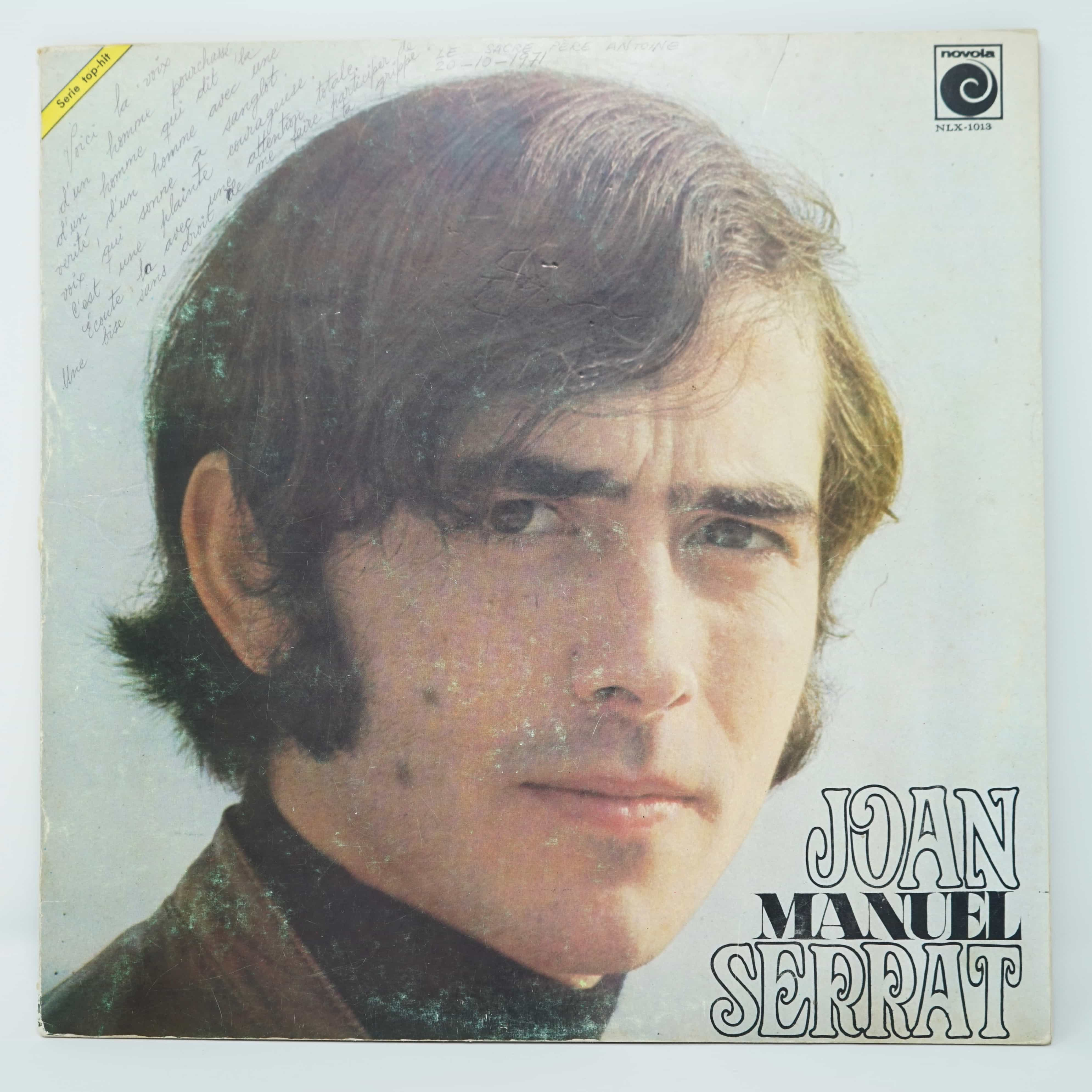 Vinyle de Joan Manel Serrat Dedicacé