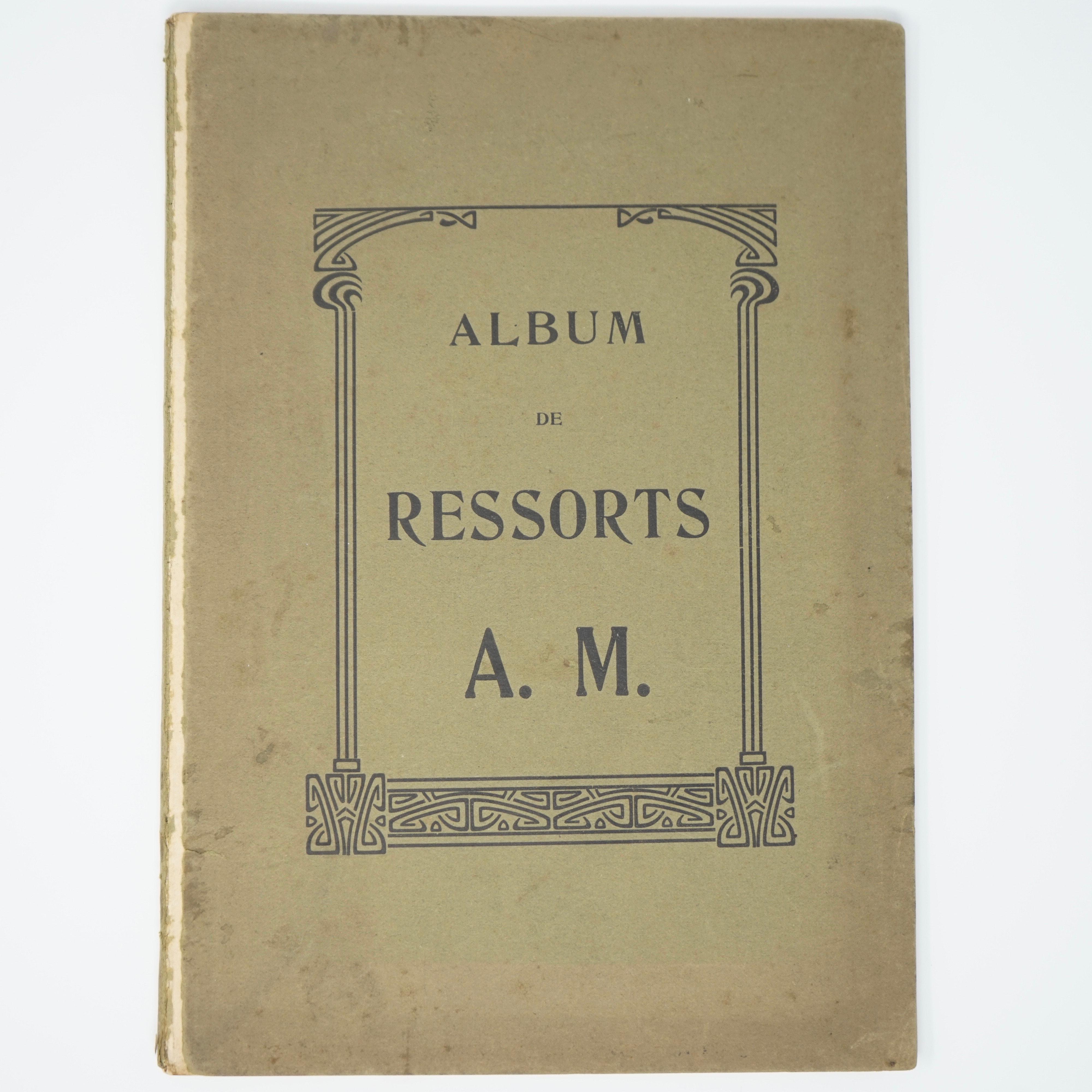 Album Répertoire de Ressorts A.M