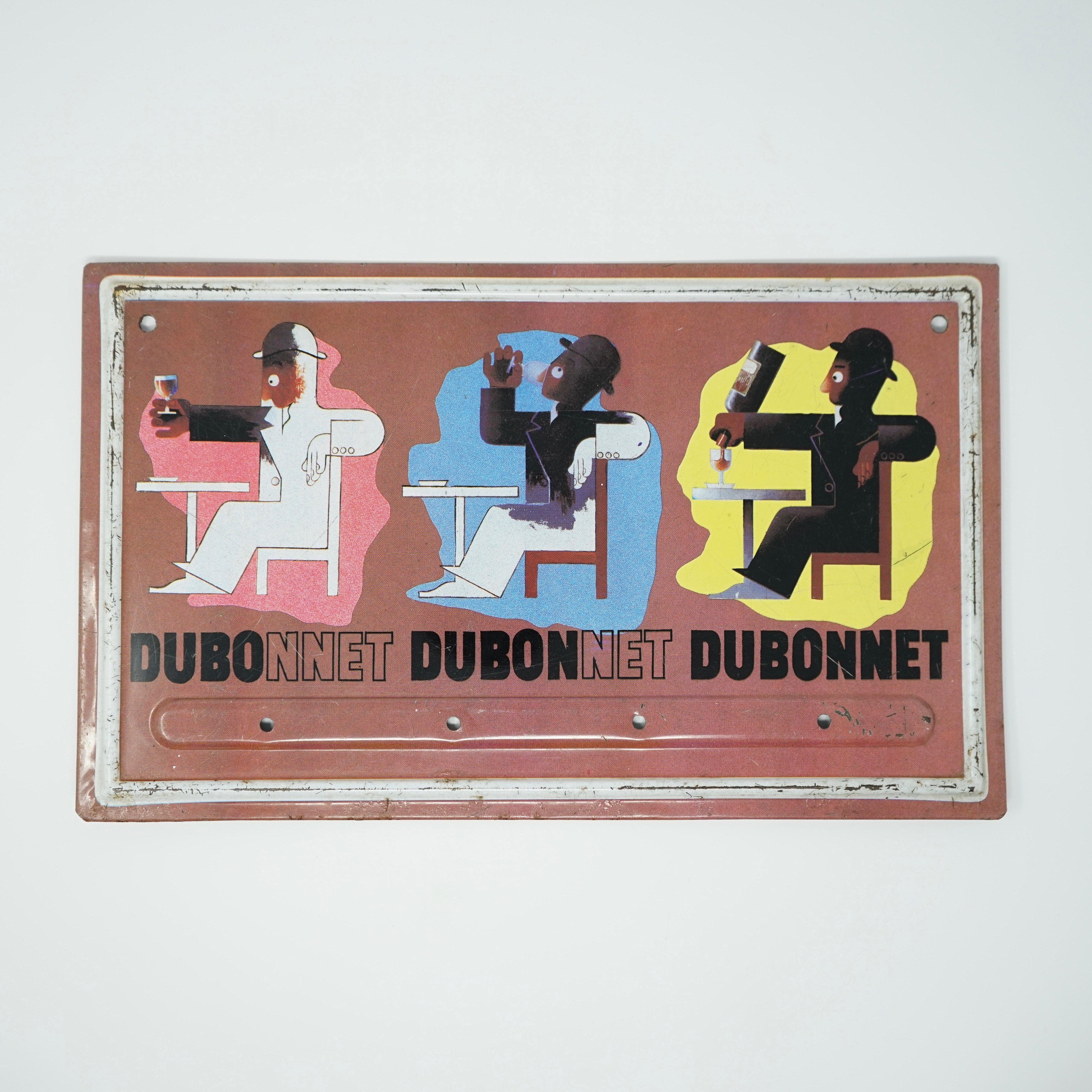Plaque Publicitaire Dubonnet