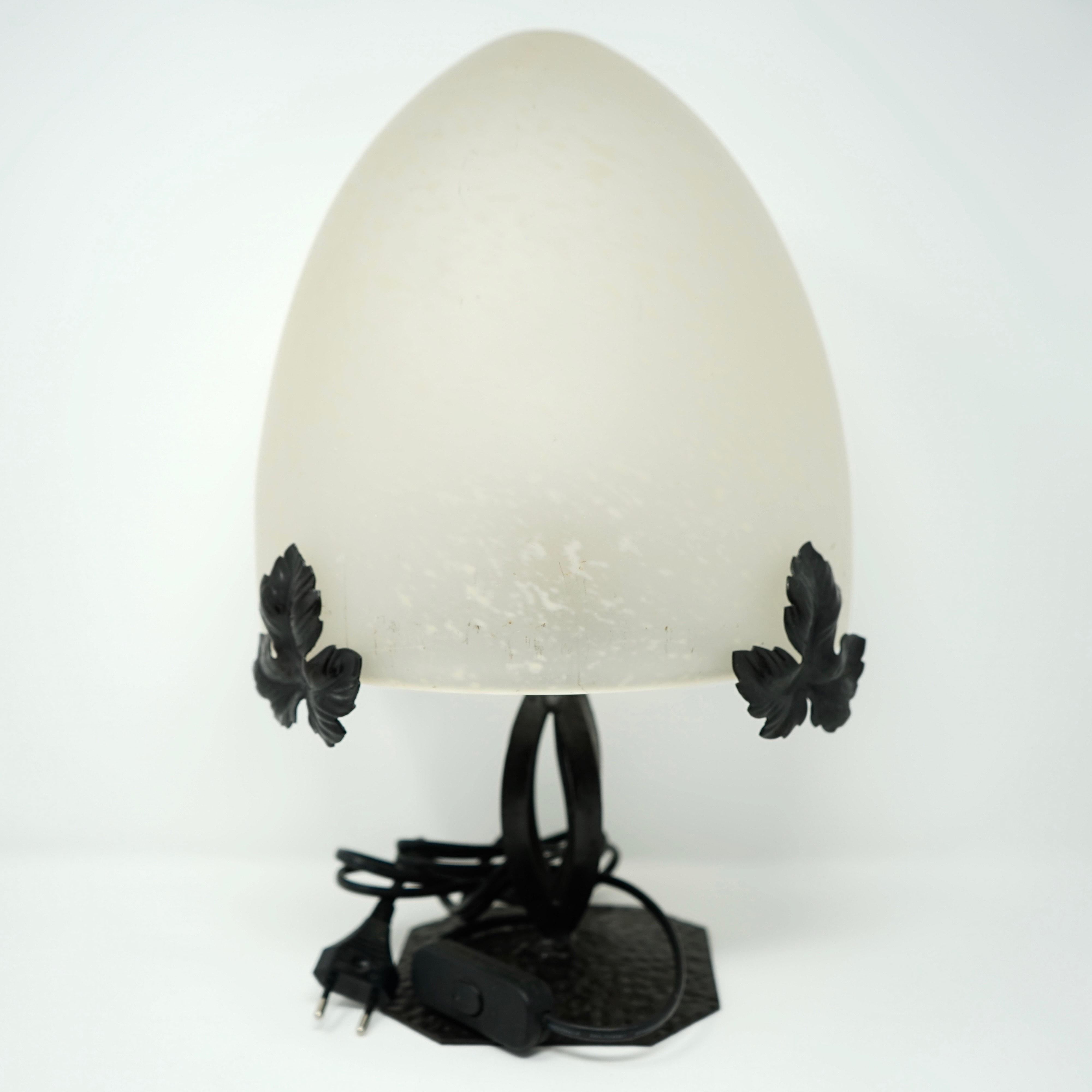 Lampe Art Nouveau Fer Forgé Fleurs